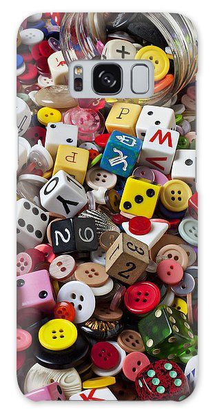 Buttons And Dice Galaxy Case