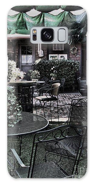 Cafe Courtyard Galaxy Case by Joanne Coyle