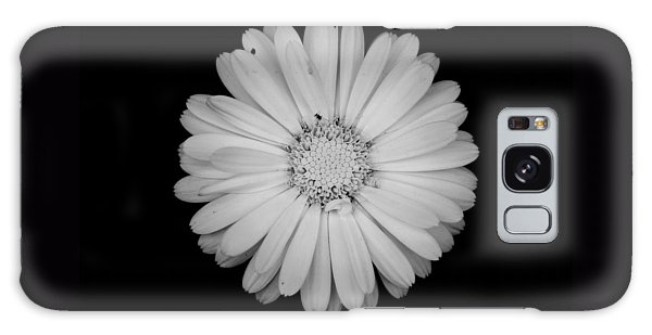 Calendula Flower - Black And White Galaxy Case by Laura Melis