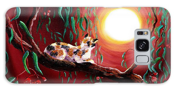 Calico Cat Galaxy Case - Calico Cat In Eucalyptus Boughs by Laura Iverson
