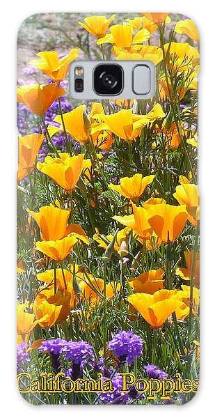 California Poppies Galaxy Case by Carla Parris