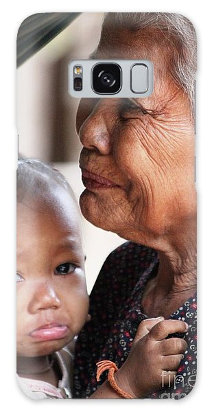 Cambodian Grandmother And Baby #1 Galaxy Case by Nola Lee Kelsey