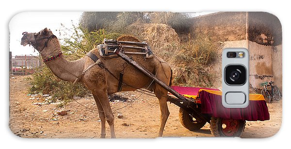 Camel Yoked To A Decorated Cart Meant For Carrying Passengers In India Galaxy Case by Ashish Agarwal