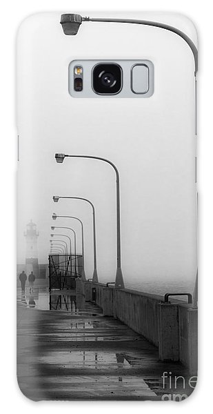 Canal Park Lighthouse In Fog Galaxy Case