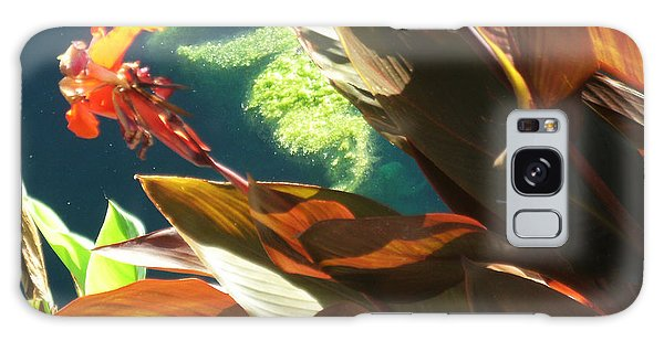 Canna Lily And Water In San Angelo Civic League Park Galaxy Case by Louis Nugent