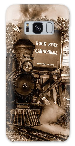 Cannonball Express In Sepia Galaxy Case