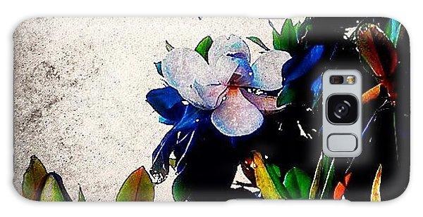Edit Galaxy Case - Canvas Magnolia by Mari Posa