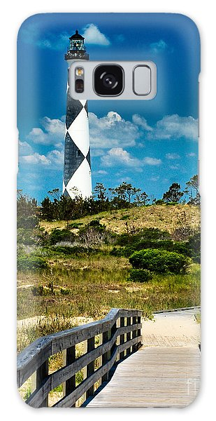 Cape Lookout Light Galaxy Case