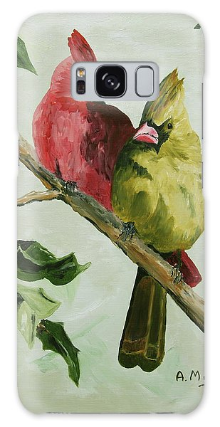Cardinals With Holly Galaxy Case