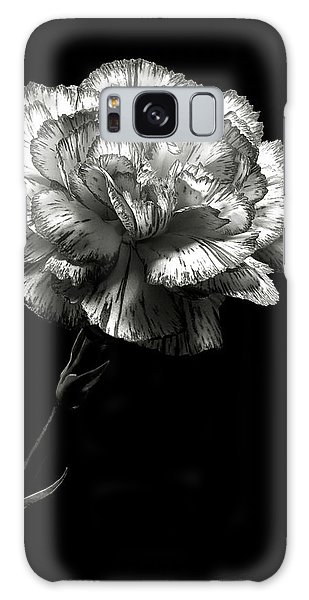 Carnation In Black And White Galaxy Case