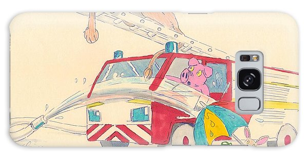 Cartoon Fire Engine And Animals Galaxy Case