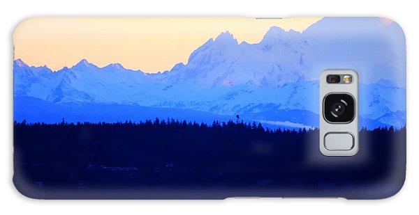 Washington Puget Sound Cascade Waterway Galaxy Case