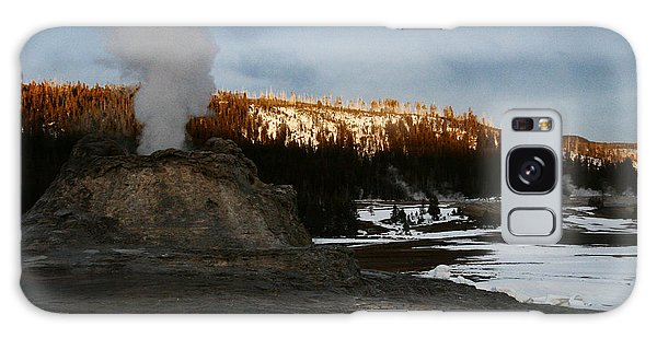 Castle Geyser Yellowstone National Park Galaxy Case