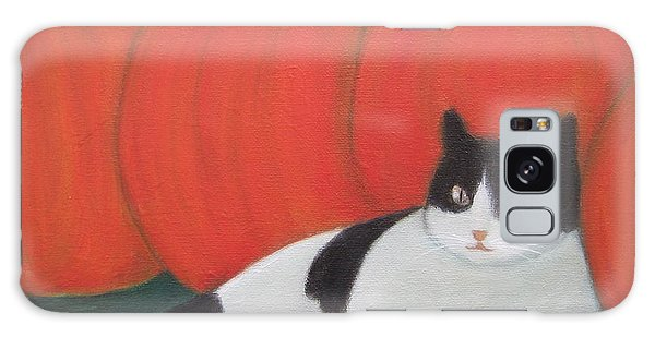 Cat And Pumpkins  Galaxy Case