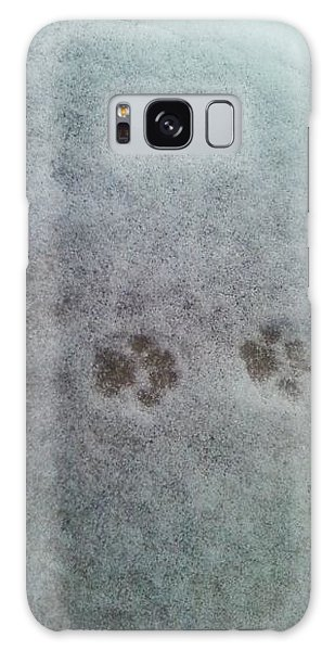 Cat Tracks In The Snow Galaxy Case by Gerald Strine