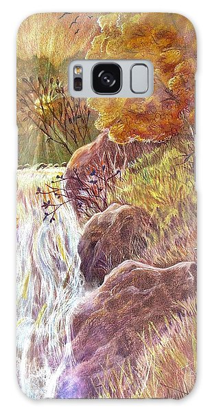 Waterfall Galaxy Case - Catching The Last Light by Marilyn Smith