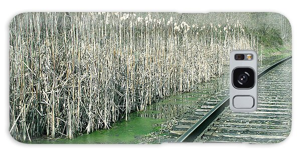 Cattails By The Tracks Galaxy Case