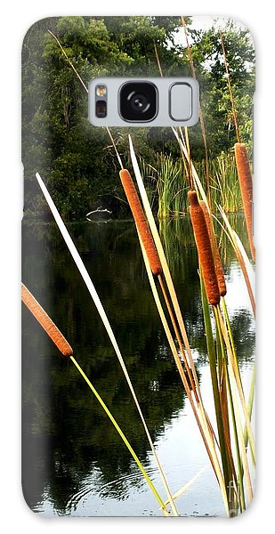Cattails On The River Bank Galaxy Case