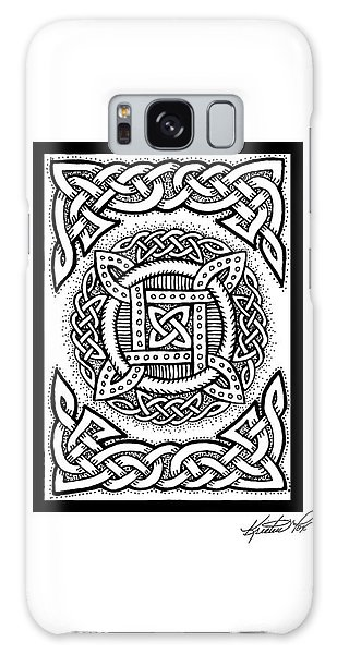 Celtic Four Square Circle Galaxy Case by Kristen Fox