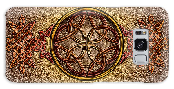 Celtic Knotwork Enamel Galaxy Case by Kristen Fox