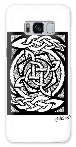 Celtic Knotwork Rotation Galaxy Case by Kristen Fox