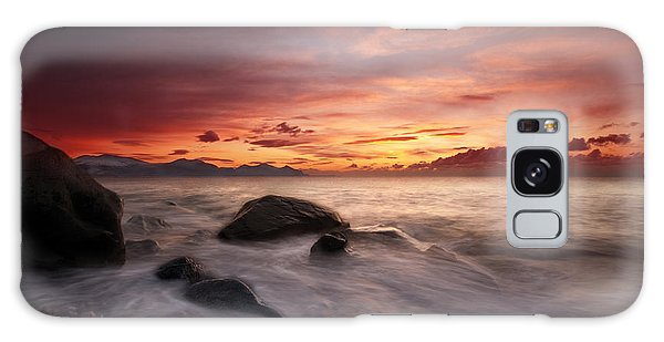 Celtic Sunset Galaxy Case by Beverly Cash