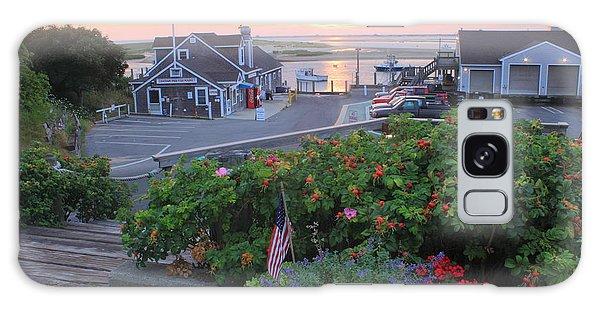 Chatham Fish Pier Summer Flowers Cape Cod Galaxy Case