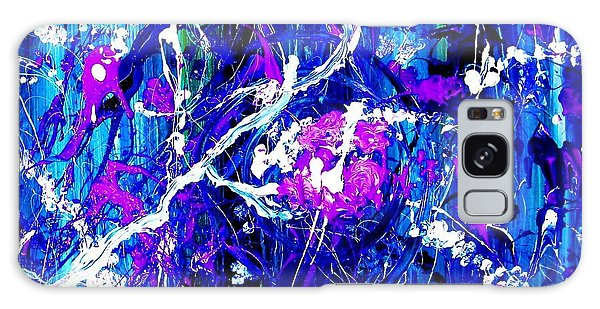Galaxy Case featuring the painting Cherry Blossom Explosion by Michelle Dallocchio