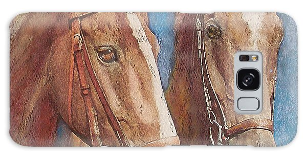Chestnut Pals Galaxy Case by Richard James Digance