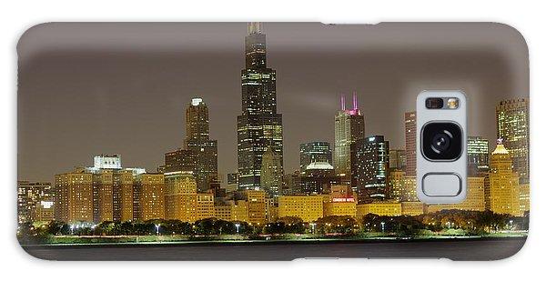 Chicago Night Skyline Galaxy Case