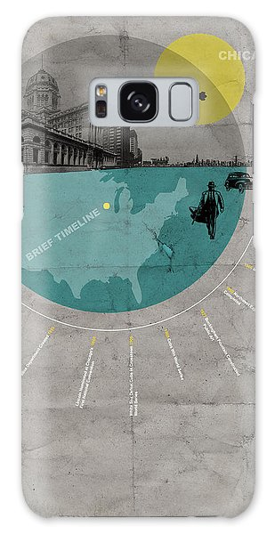 Grant Park Galaxy Case - Chicago Poster by Naxart Studio