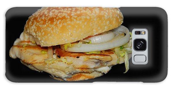Chicken Sandwich Galaxy Case by Cindy Manero