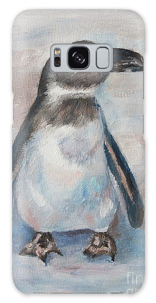 Chilly Little Penguin Galaxy Case by Brenda Thour