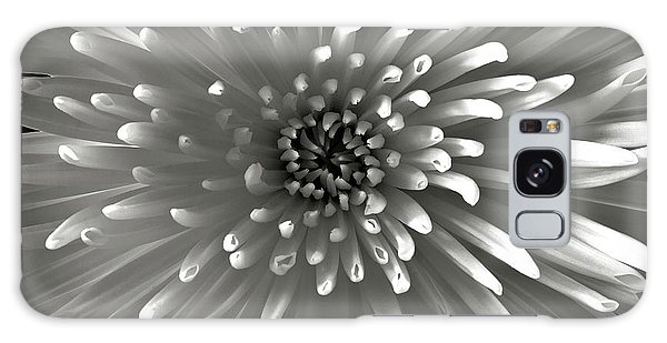 Chrysanthemum In Black And White Galaxy Case