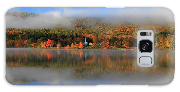 Church Across The Lake-panoramic Galaxy Case