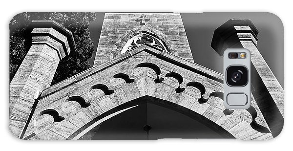 Church Facade In Black And White Galaxy Case