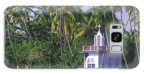 Church Located On A Coastal Lagoon In Kerala In India Galaxy Case