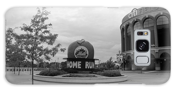 Galaxy Case - Citi Field In Black And White by Rob Hans