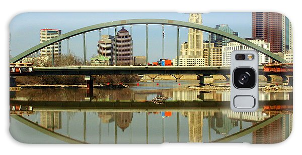 City Reflections Through A Bridge Galaxy Case by Laurel Talabere