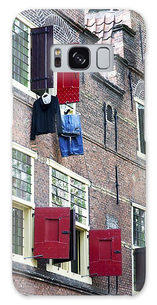 Clothes Hanging From A Window In Kattengat Galaxy Case
