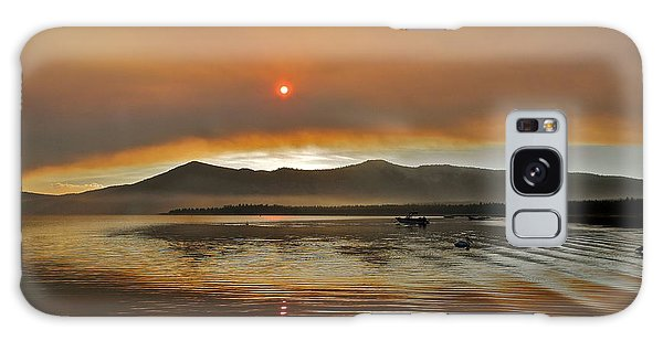 Clouds And Sun In A Smoky Sky Galaxy Case