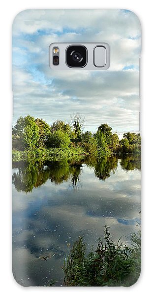 Clouds On The River Galaxy Case by Debra Collins