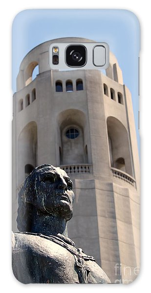 Coit Tower Statue Columbus Galaxy Case