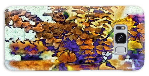 Vase Of Flowers Galaxy Case - Colored Memories by Madeline Ellis