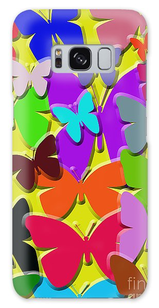 Colorful Butterflies Galaxy Case