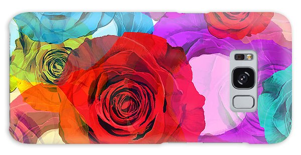 Rose Galaxy Case - Colorful Floral Design  by Setsiri Silapasuwanchai