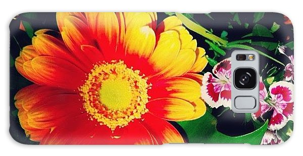 Orange Galaxy Case - Colorful Flowers by Matthias Hauser