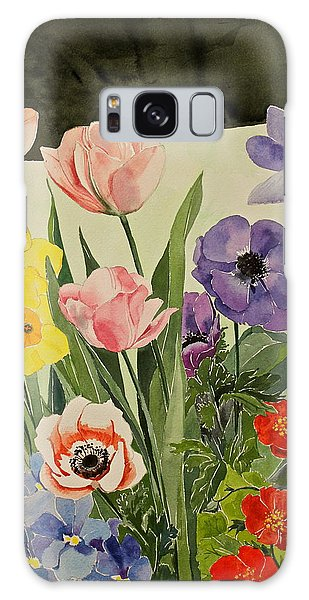 Colorful Flowers-posthumously Presented Paintings Of Sachi Spohn  Galaxy Case