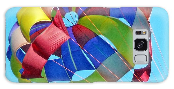 Colorful Parachute Galaxy Case by Val Miller
