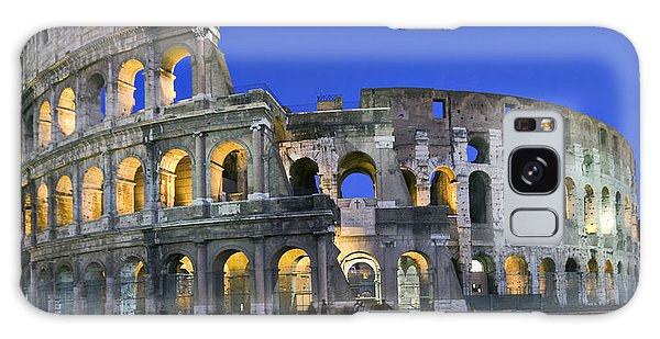 Colosseum At Blue Hour Galaxy Case